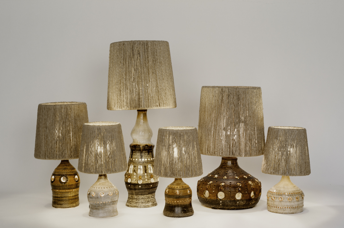 Georges Pelletier's lamps and lampshades from Les Foins