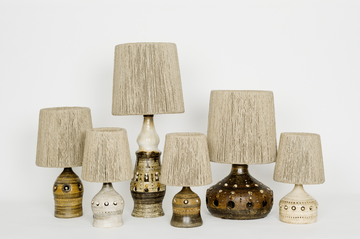 Lampshades for Georges Pelletier's lamps. Exclusive from Les foins