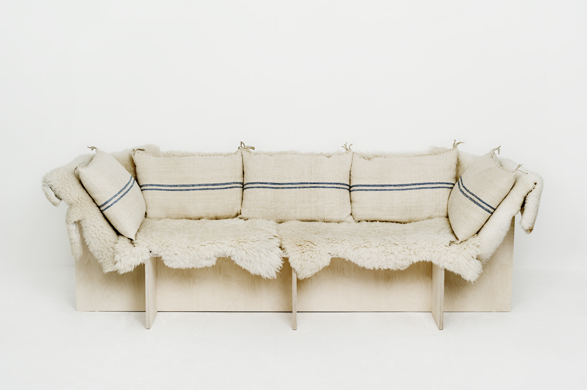 Blue sofa from les foins