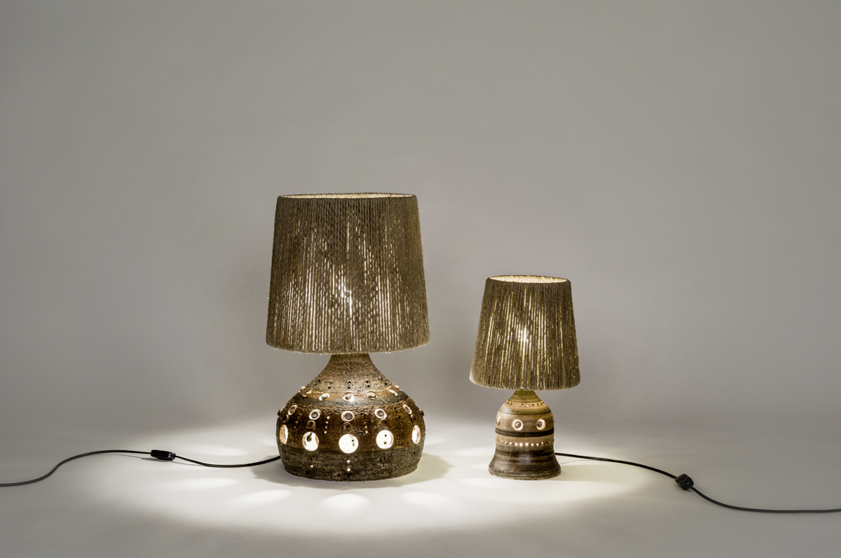 A pair of floor lamp produced by Georges Pelletier.