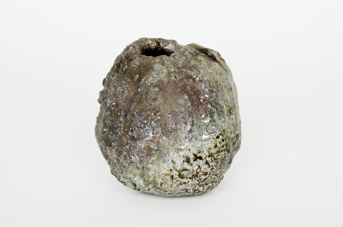 vase japonais en céramique les foins vue face